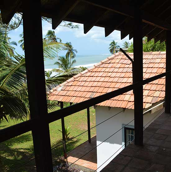 Sea facing house frontage with verandah