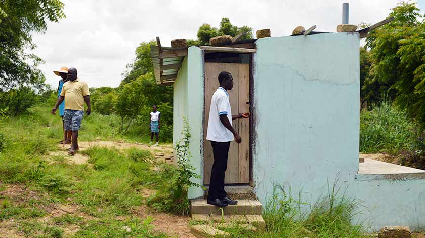 Toilet block at Langma contributed by Ghana Beach House