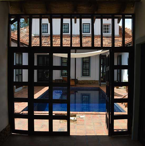 Entrance to swimming pool
