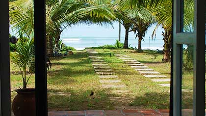 View to beach from the house